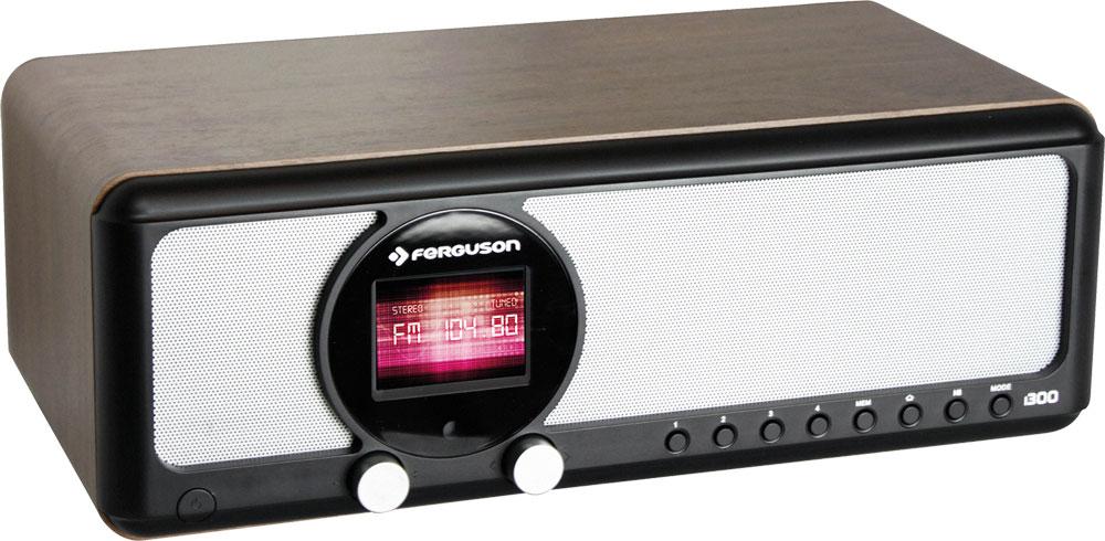Ferguson i300B Internet Radio DAB DAB+ Bluetooth FM UKW mit RDS schwarz/Braun