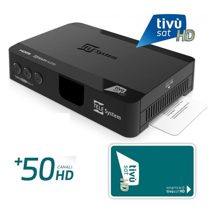 TELE System TS9018 HEVC HD SAT Receiver inkl. Aktiviert Smart Karte