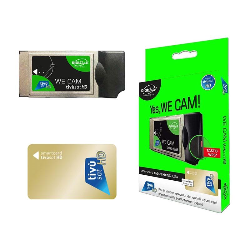 TiVuSat DIGIQuest We CAM SmarCam HD CI+ Modul inkl. TiVuSat Karte Aktiv
