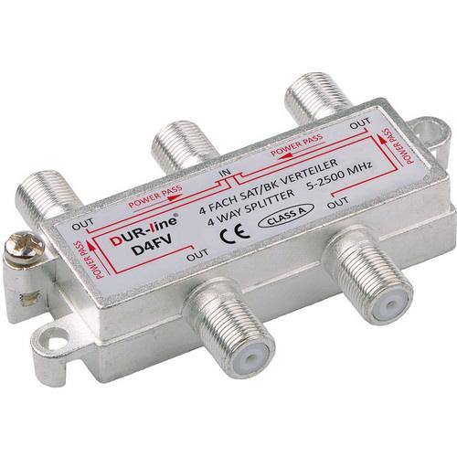 DUR-line BK-SAT- 4-fach Verteiler - Unicable tauglich