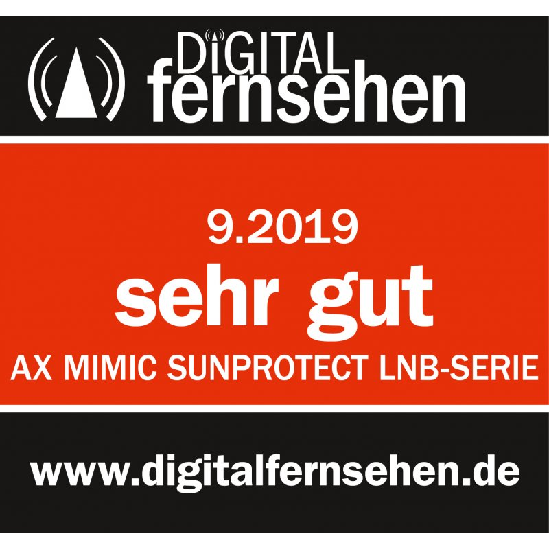 AX Mimic SUN PROTECT Twin LNB 0.1dB