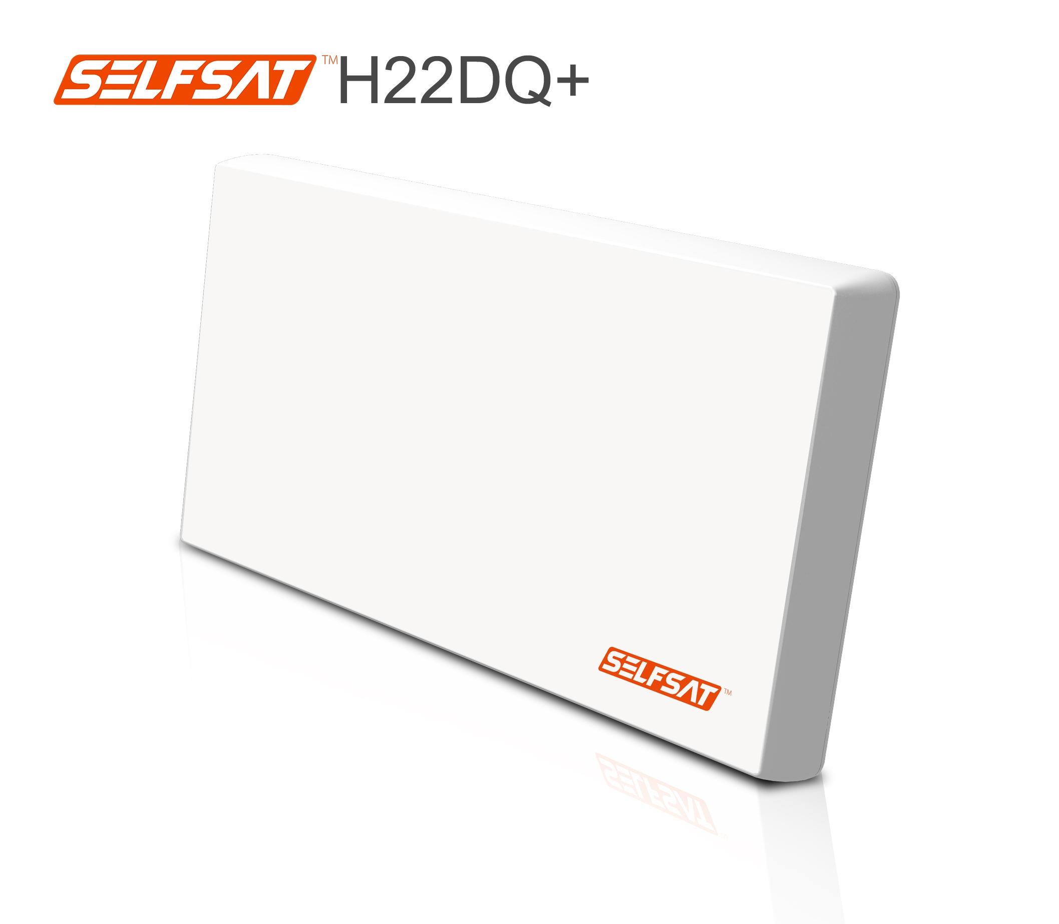 Selfsat H22DQ+ Flachantenne mit Quattro LNB