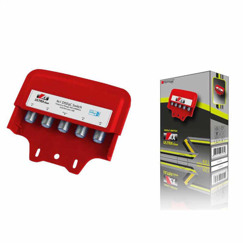 AX Ultra Line 4/1 DiSEqC Schalter mit Wetterschutzgehäuse