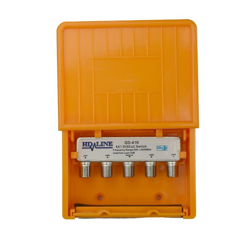 HD-Line 4/1 DiSEqC Schalter mit Wetterschutz Sat Umschalter