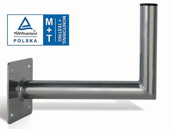 Premium Wandhalter Stahl Verzinkt 60cm Ø50mm TÜV Zertifiziert