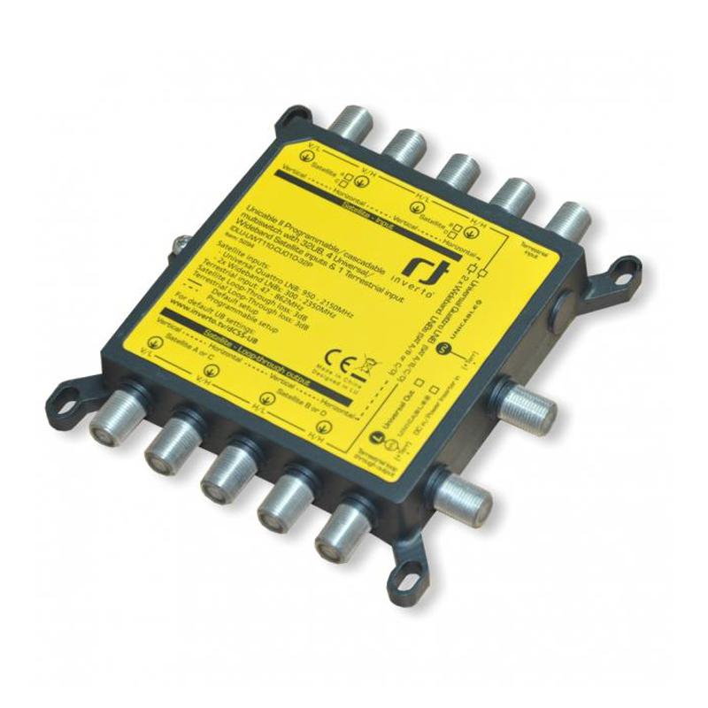 Programmierbarer Unicable II Multischalter - 32 Teilnehmer* - Wideband