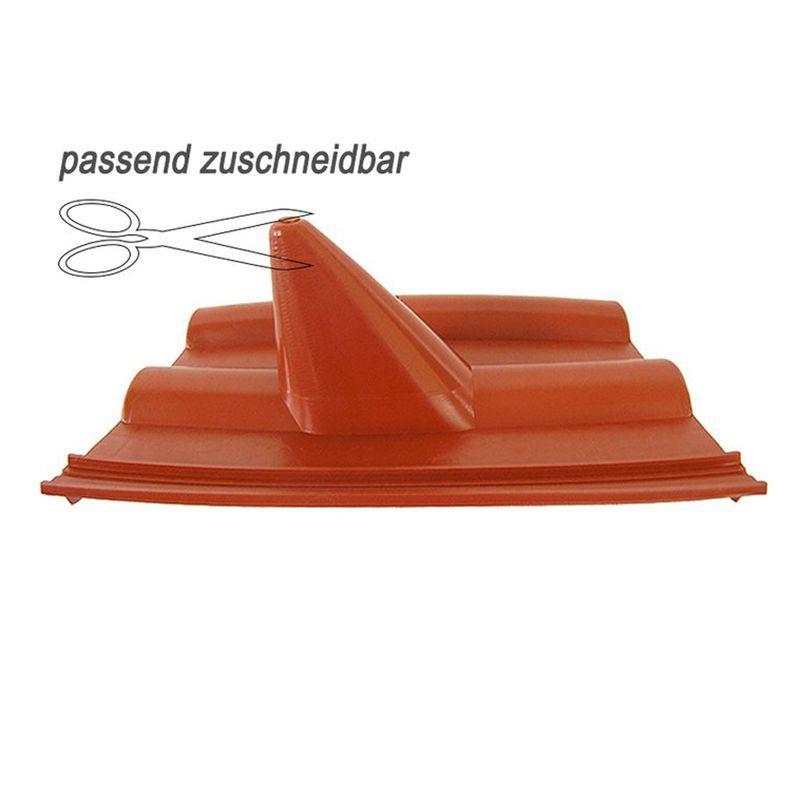 Dachpfanne Dachziegel PVC Abdeckung Frankfurter Finkenberger, Ziegelrot