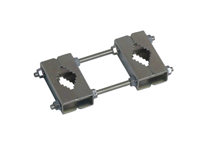 Rohr-Abstandshalterung 2-teilig bis 60mm Stahl feuerverzinkt