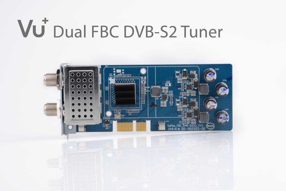 VU+ DVB-S2/S2X FBC Twin Tuner Uno 4K / Ultimo 4K / Duo 4K ( 8 Demodulatoren )