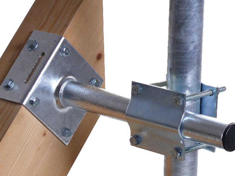 A.S.SAT Dachmastmontageset bis 60mm Rohre Stahl