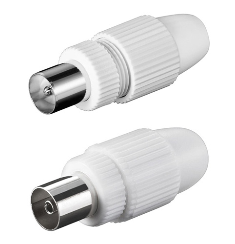 Antennenstecker Koaxial Stecker und Kupplung