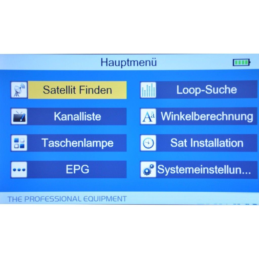 Digitales SAT Messgerät SUMMIT SM 505HD DVB-S DVB-S2 HDTV