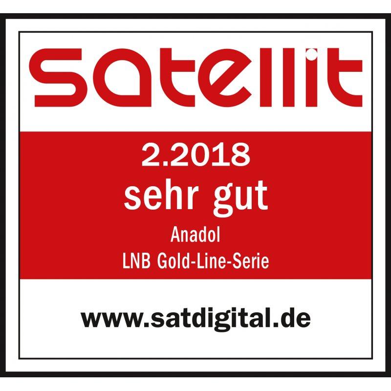 Anadol Gold Line Single LNB 0.1dB Digital für 1 Teilnehmer