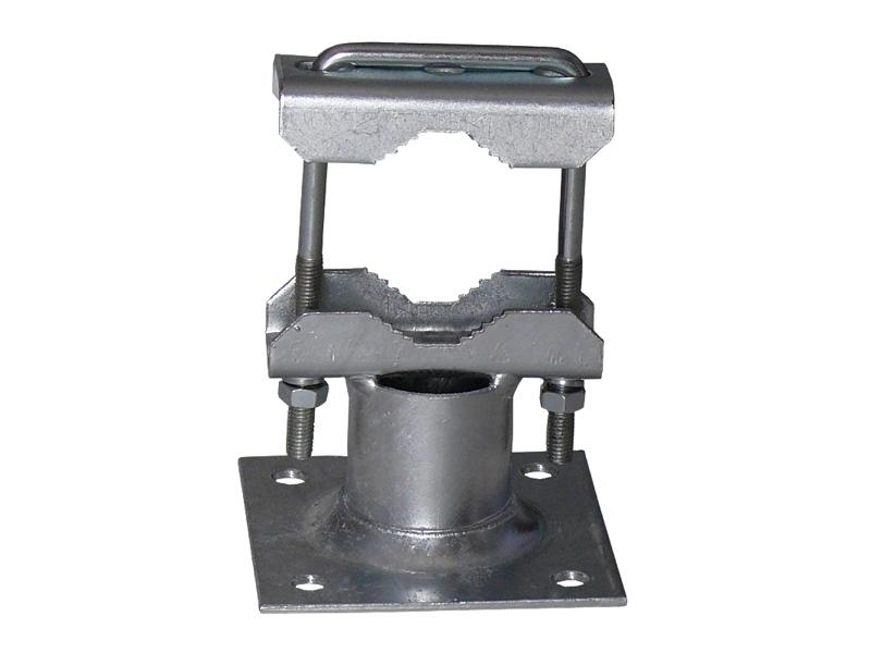 Rohrschelle für Ausleger bis 60mm Stahl feuerverzinkt 2 x Zahnsc