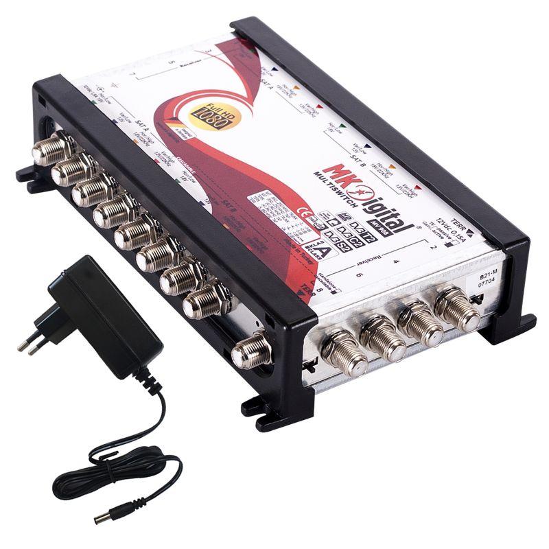 MK Digital MV 908 Multischalter, Multiswitch SAT Verteiler 9 auf 8 kaskadierbar