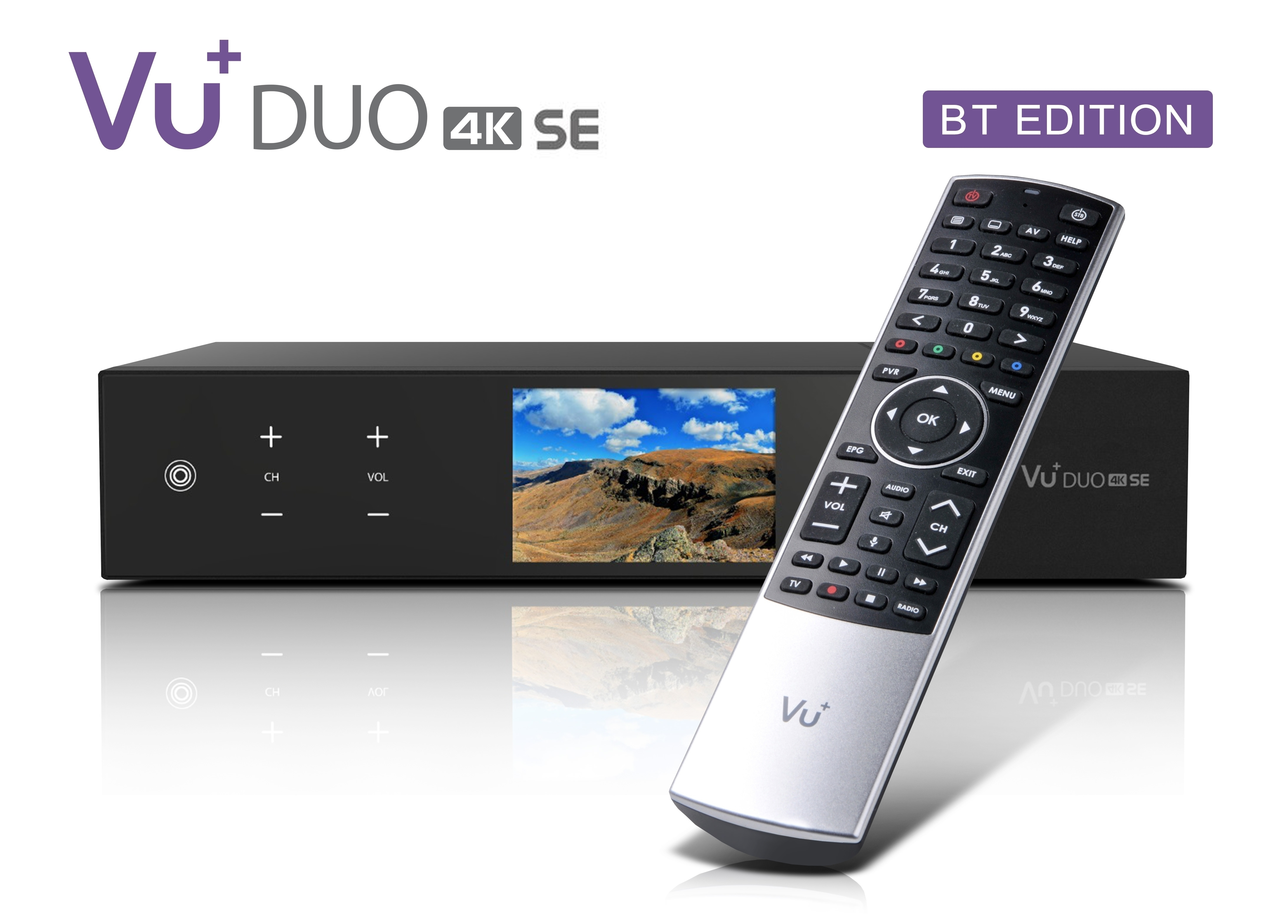 VU+ Duo 4K SE BT 1x DVB-S2X FBC Twin / 1x DVB-C FBC Tuner 500 GB HDD Linux Receiver UHD 2160p