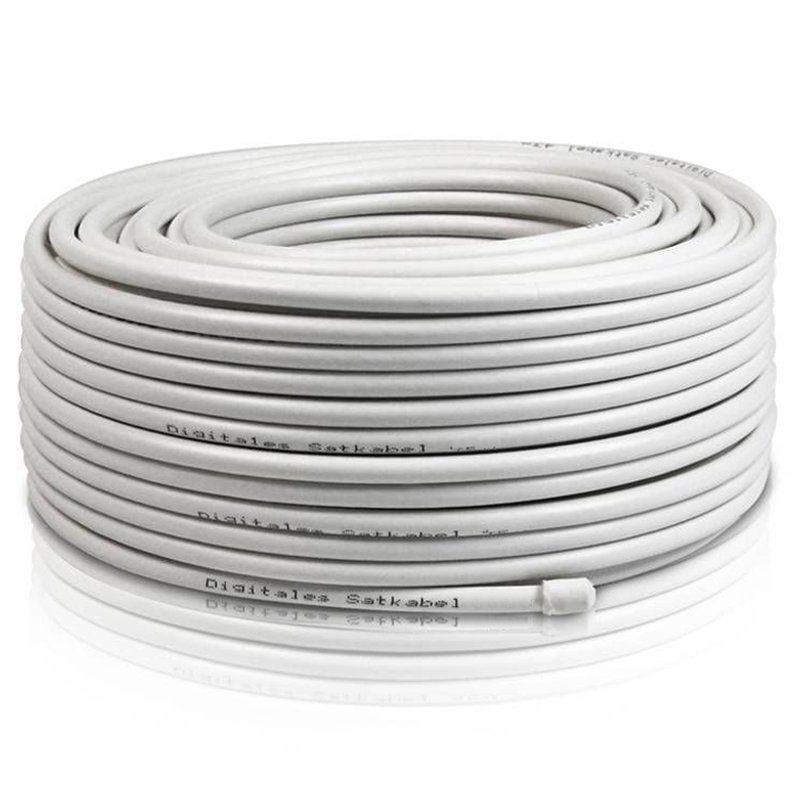 25m Koaxialkabel >135dB 5-Fach 7mm Sat Koax Kabel Antennenkabel UHD 4K