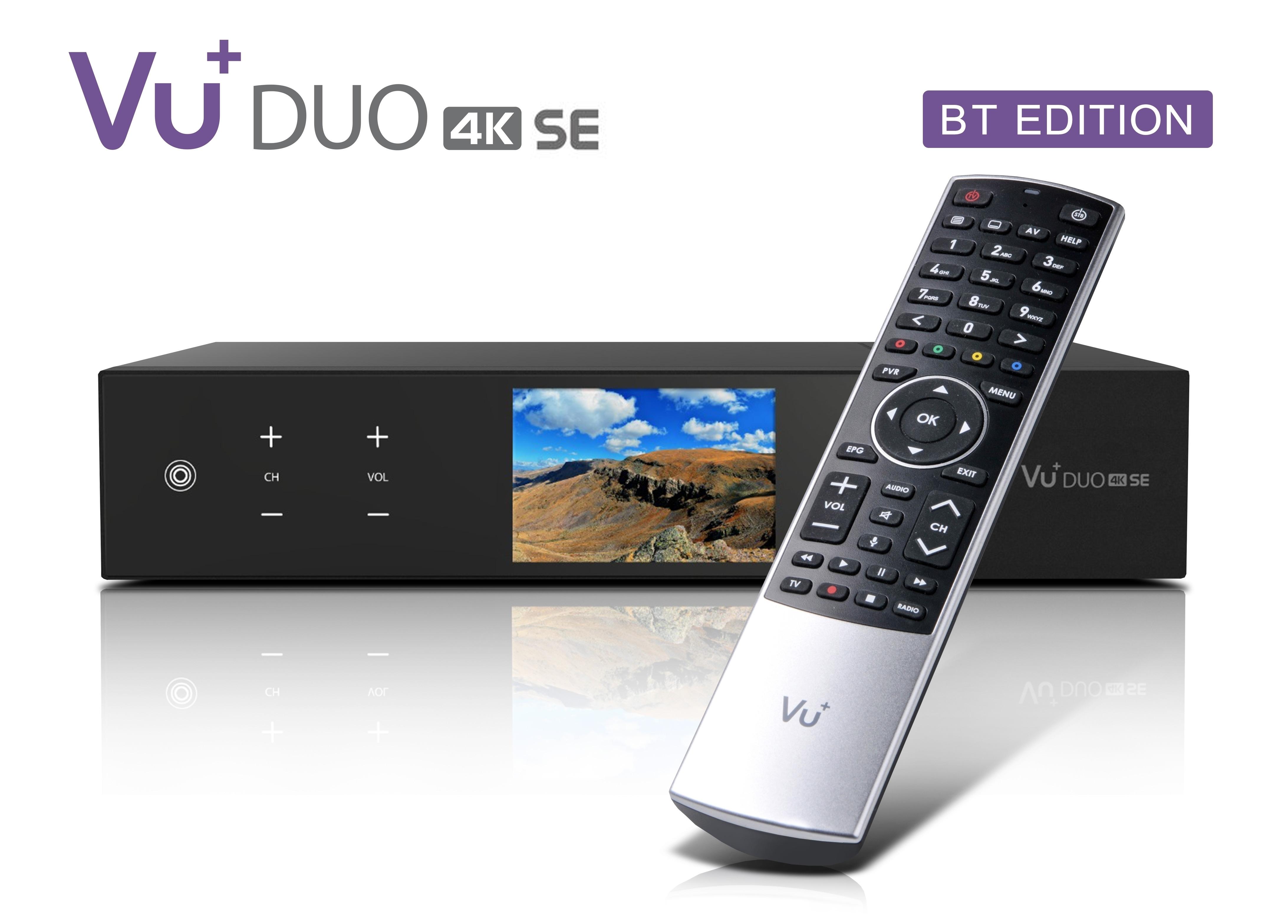 VU+ Duo 4K SE BT 1x DVB-S2X FBC Twin / 1x DVB-C FBC Tuner 2 TB HDD Linux Receiver UHD 2160p