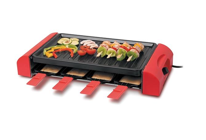 Thomson THRG96 Raclette + Grill für 6 Personen 24 x 30 cm Kochplatte