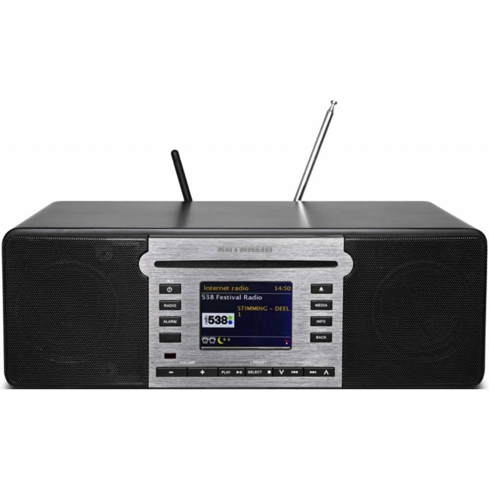 Kathrein DAB+ 100 highline schwarz DAB+/FM Radio mit Bluetooth für Audio-Streaming, WiFi und CD-Play