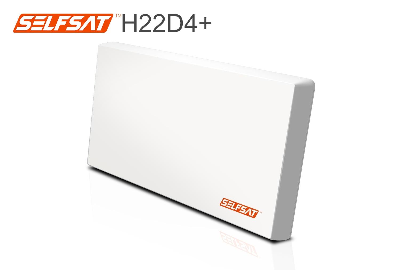 Selfsat H22D4+ Flachantenne mit austauschbaren Quad LNB