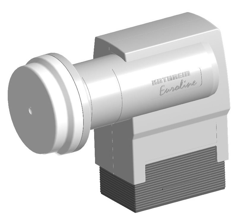 Kathrein KEL 422 Euroline TWIN LNB 40mm-LNB-Aufnahme