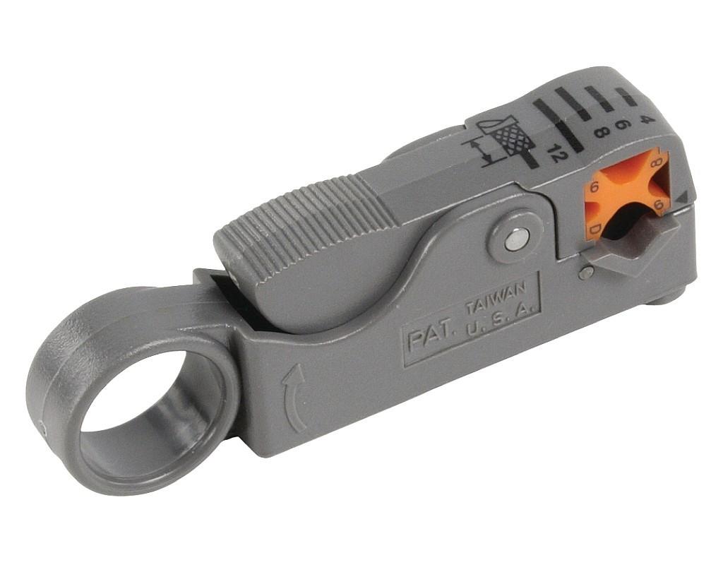 Cabelcon Coax Profi Abisolierwerkzeug Rotary Stripper Mini/RG58/RG59/RG6