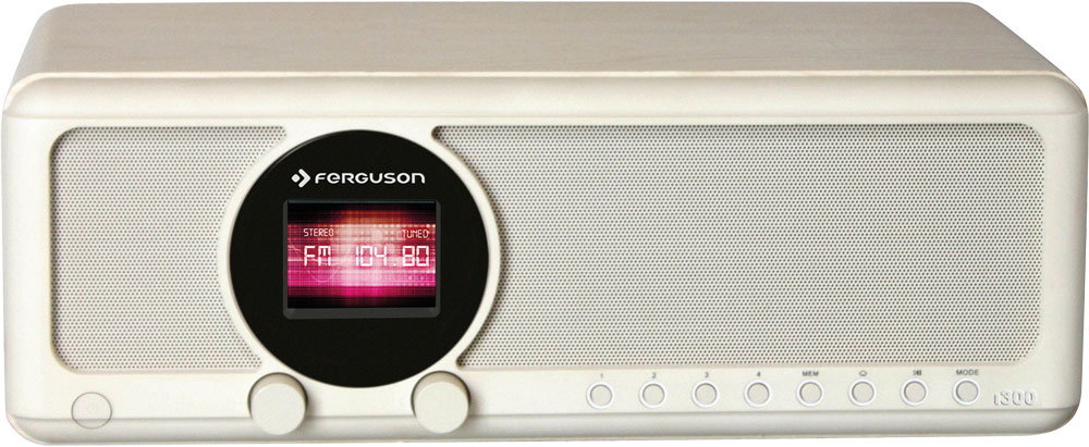 Ferguson i300 W - Internet Radio mit DAB+ FM und Bluetooth in Weiss