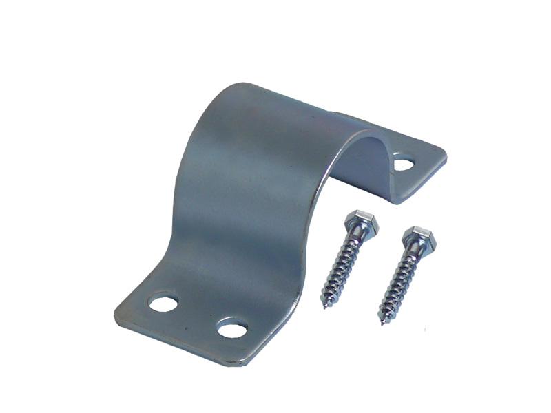 Mastschelle 4-Loch 50mm Stahlblech feuerverzinkt (inkl. 2 Schrau