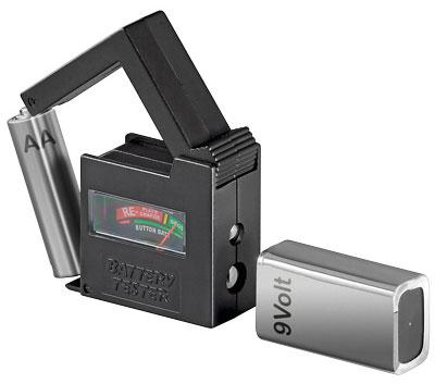 Goobay Batterietester mit Display für Batterie-Zustandsanzeige