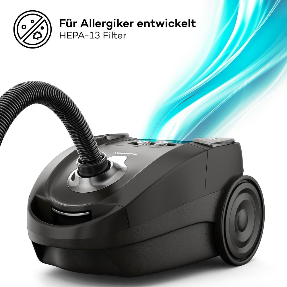 THOMSON THVC 53573 Vacuum Staubsauger mit HEPA-Filter schwarz