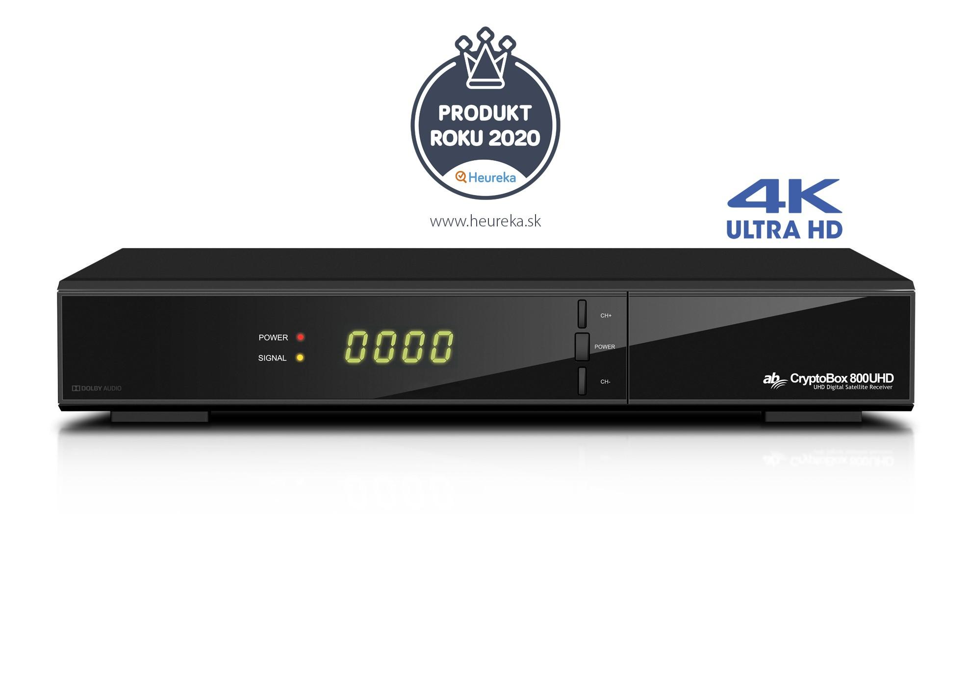 AB CryptoBox 800UHD 2160p DVB-S2X H.265 CA USB LAN Sat Receiver