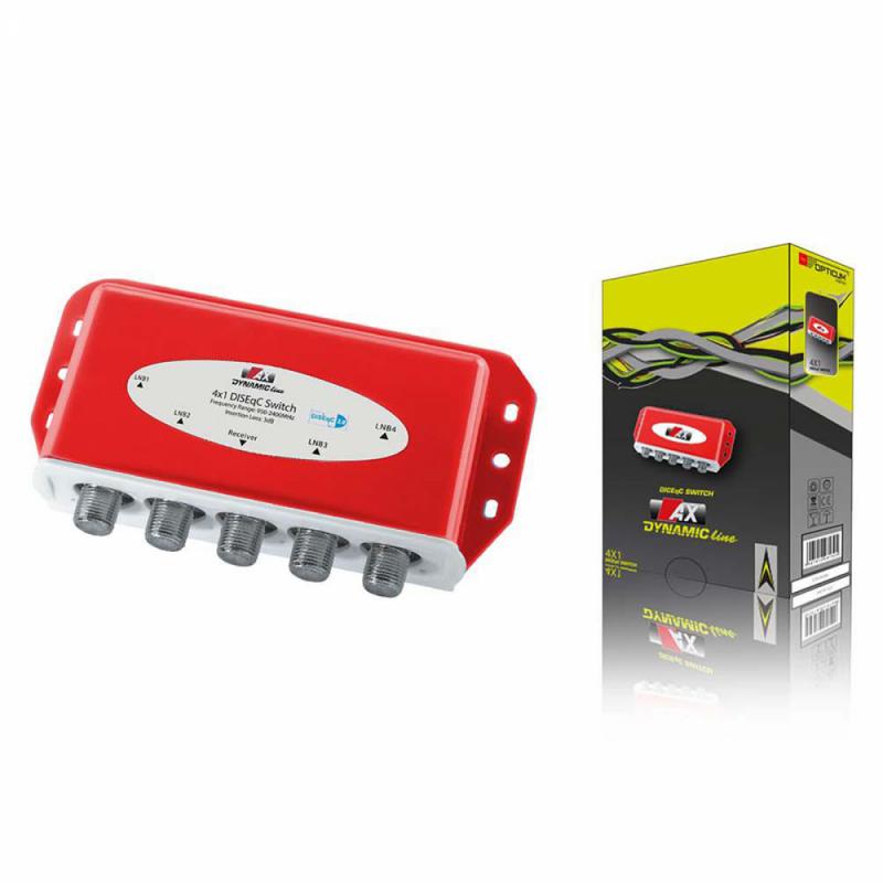 AX Dynamic Line 4/1 DiSEqC Schalter mit Wetterschutzgehäuse