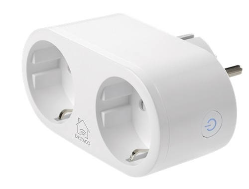 Deltaco SH-P02E SMART Home Steckdosen Adpater
