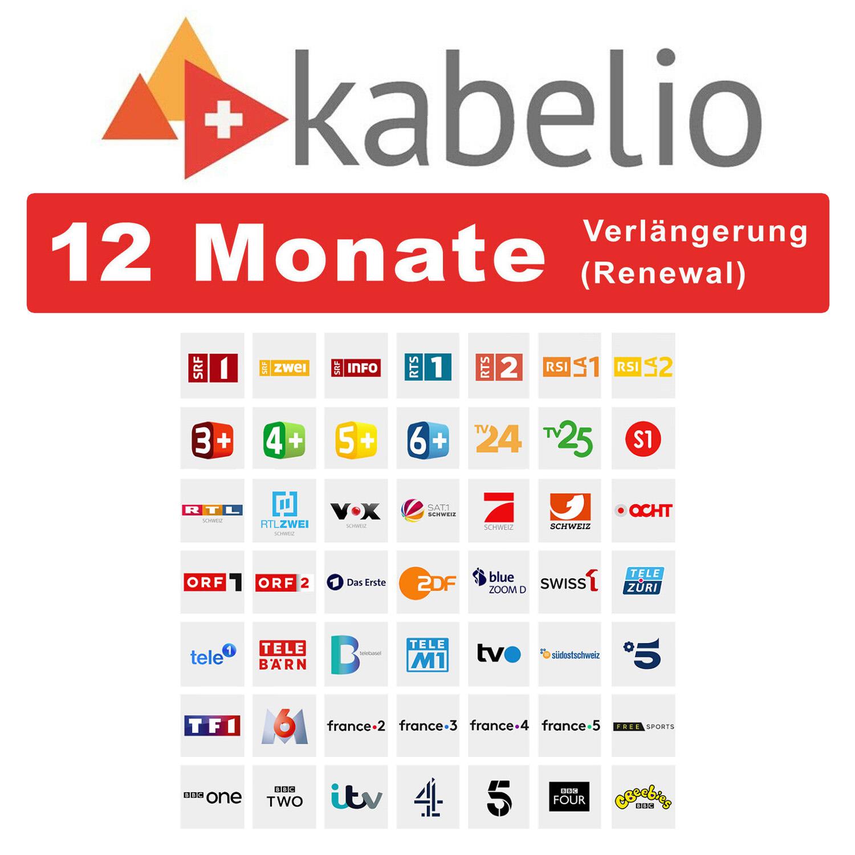 Kabelio Verlängerung Renewal 12 Monate
