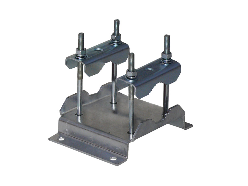 Rohrschelle für Ausleger und Wandhalter 38-60mm Stahl feuerverzi