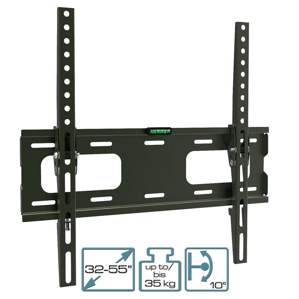 """LCD/LED Wandhalter 32'' - 55"""" ( 81 - 140cm) neigbar bis 35Kg Schwarz"""