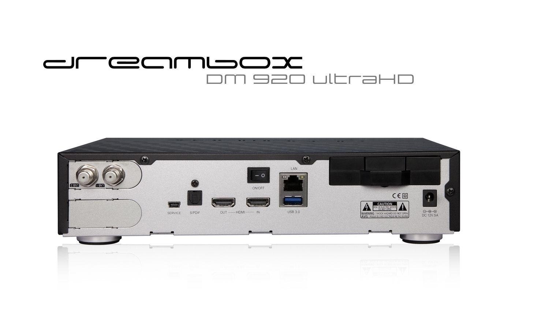 Dreambox DM920 UHD 4K 1x DVB-S2X-MS / 1x Triple S2X-MS Tuner E2 Linux PVR Receiver