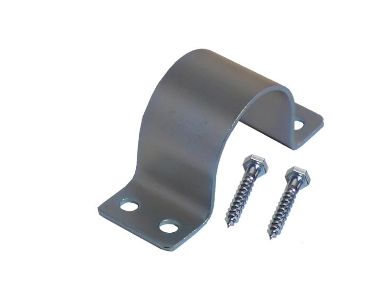 Mastschelle 4-Loch 60mm Stahlblech feuerverzinkt (inkl. 2 Schrau