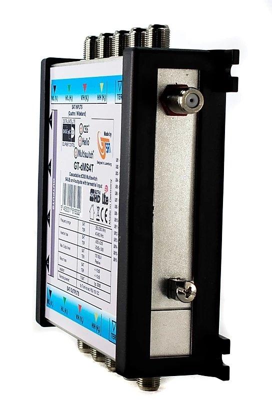 GT-SAT Unicable-Multiswitch GT-dMS4T 4x16UB für bis zu 64 Teilnehmer - 4K/UHD