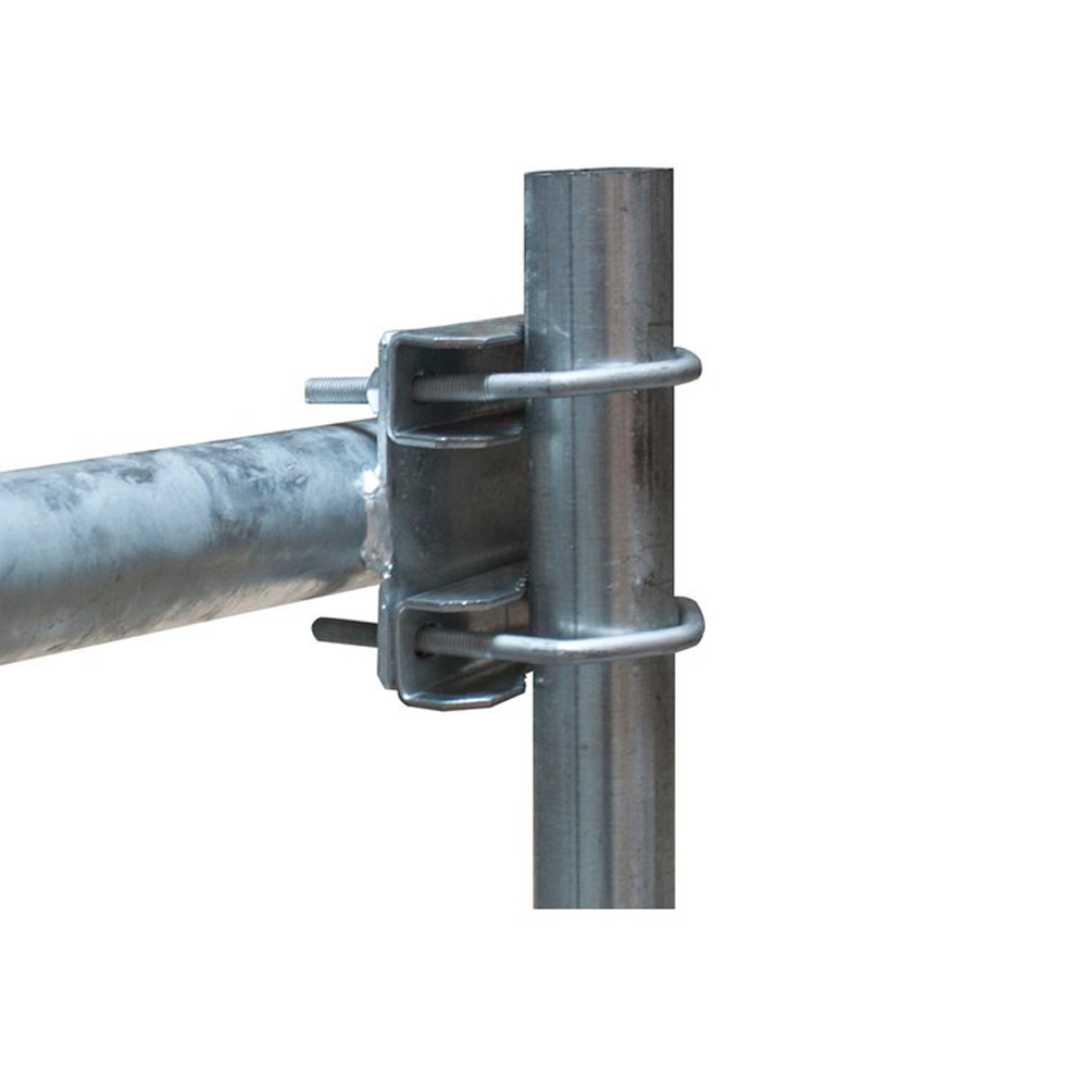 Geländerhalter - Mastverlängerung Stahl Feuerverzinkt 80cm lang Ø48mm