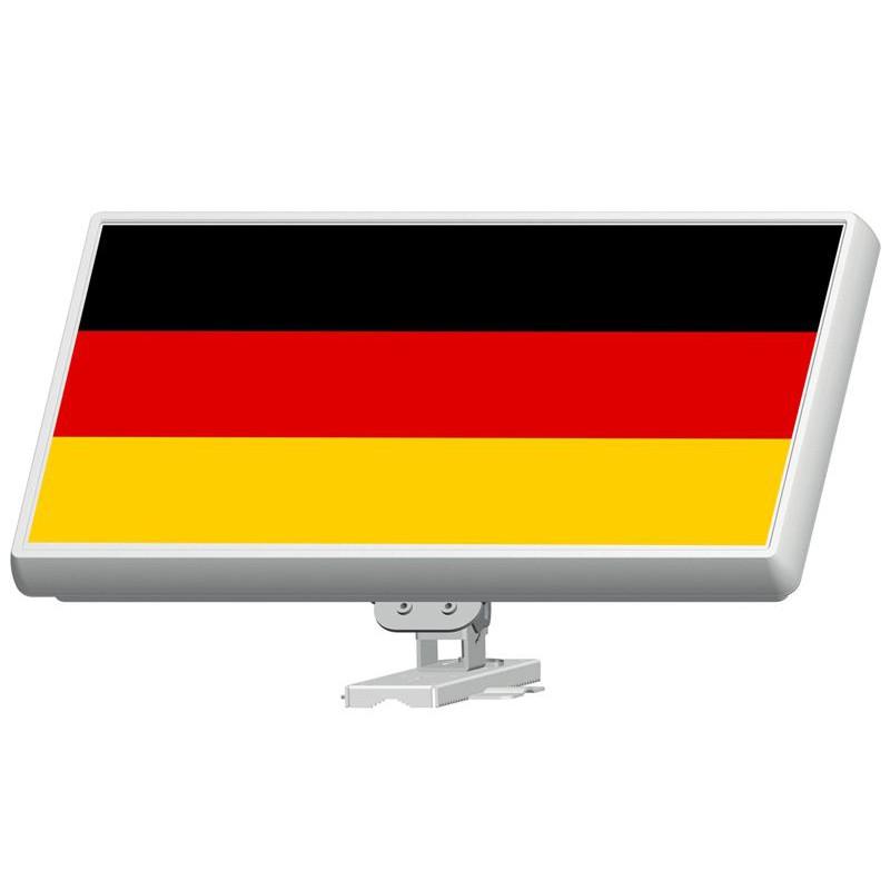 Sticker Folie für SelfSat Flachantenne H30D Serie mit Deutsche Fahne Motiv