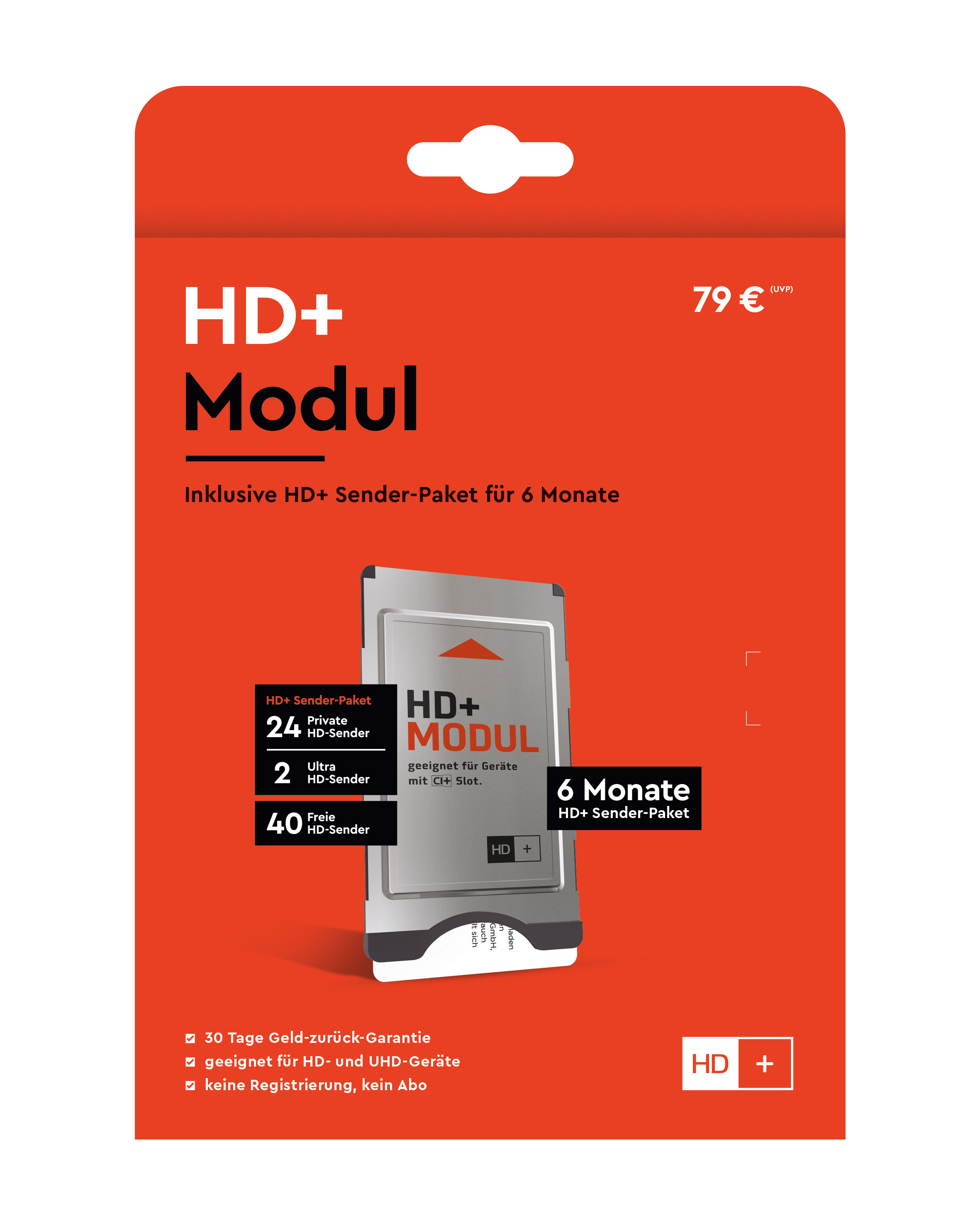 HD+ Modul inkl. HD+ Sender-Paket für 6 Monate (geeignet für Ultra HD)