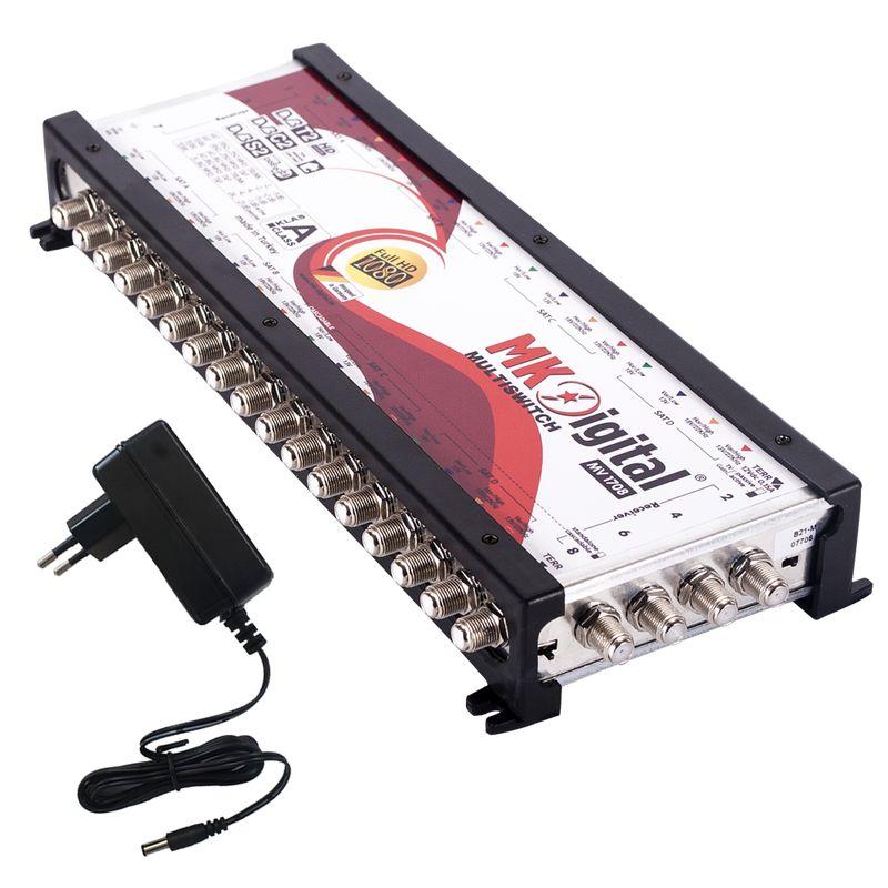 MK Digital MV 1708 Multischalter, Multiswitch SAT Verteiler 17 auf 8 kaskadierbar