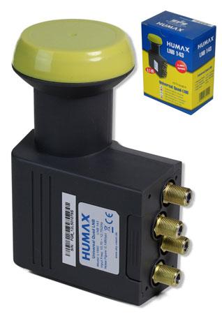 Humax LNB 143s Quad Gold 0,1dB für 4 Receiver