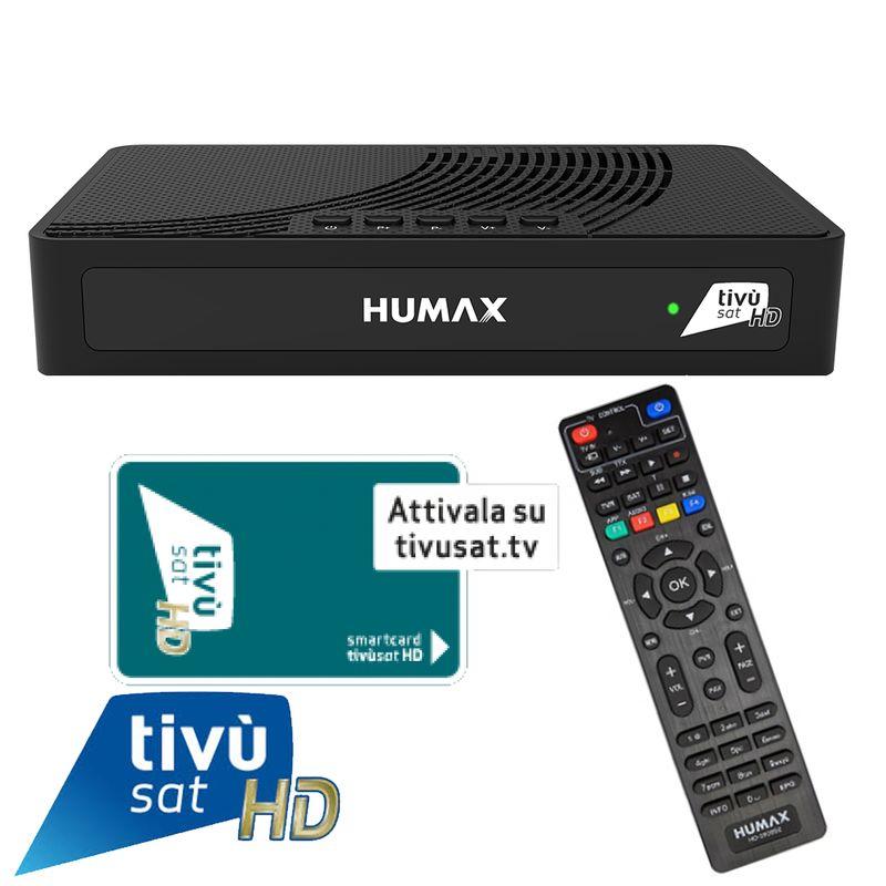 Humax TIVUMAX-HD3801 S2 Satellitenreceiver inkl. Aktiviert Tivusat HD Karte