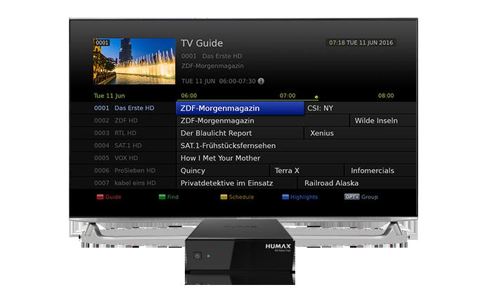 HUMAX HD NANO Free TV Satelliten-Receiver HDMI, Dolby Digital Plus, Unicable schwarz