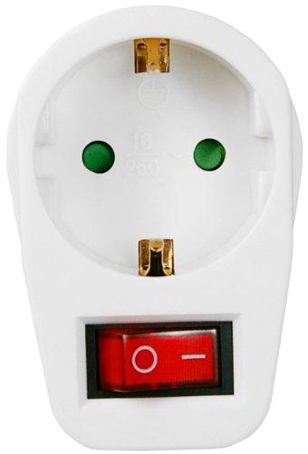 Schutzkontakt-Schalter 1x Schutzkontakt-Buchse