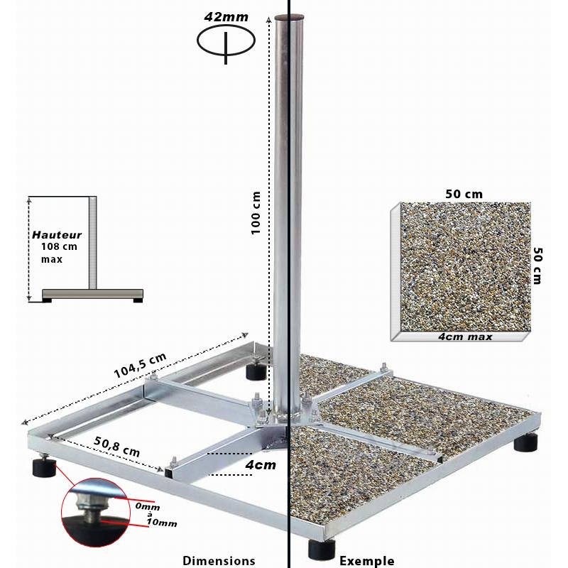 BalkonStänder Flachdachständer Ständer stabil 4X50cm