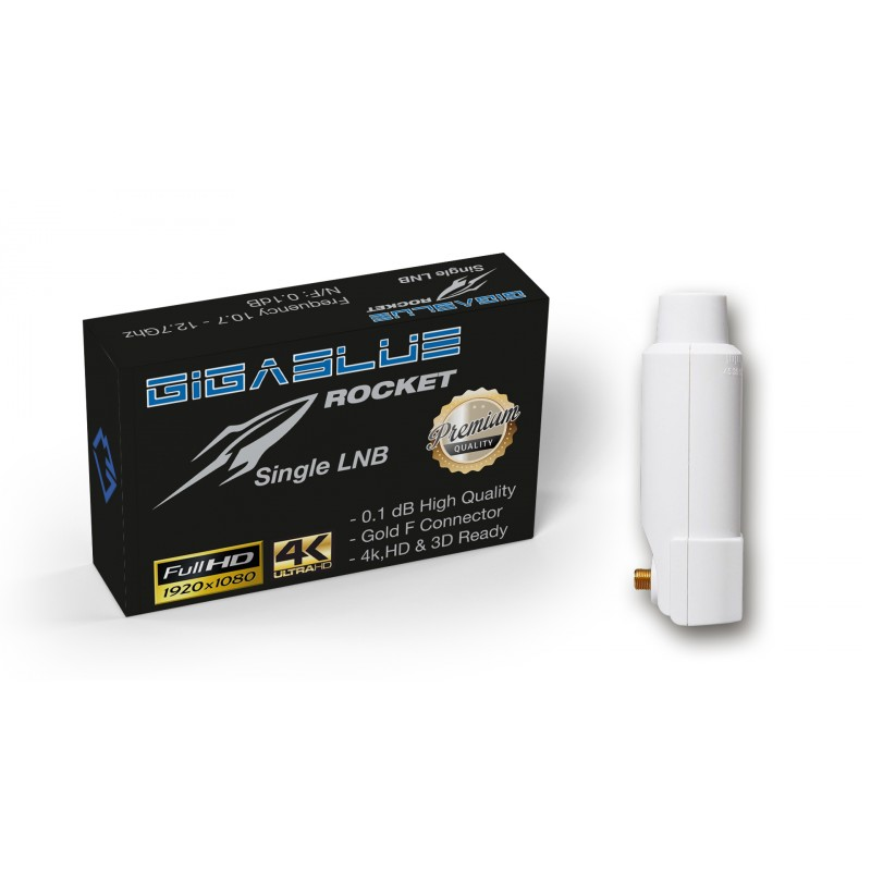 Gigablue Rocket Single Multifeed LNB 40mm Feed 0.1dB Full HD